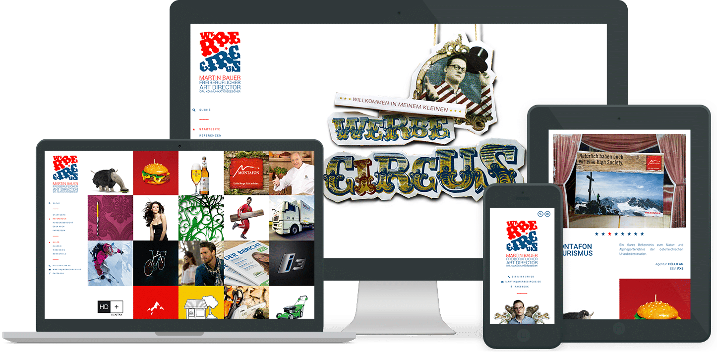 Webdesign Referenz: Werbecircus